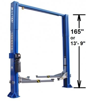 hollstein-12000-overhead-two-post-lift w measurement