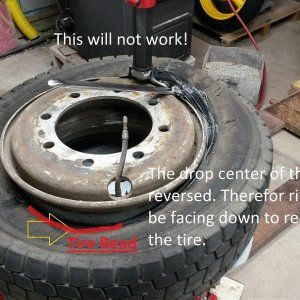 Reverse drop center rim with 17.5 and 19.5 s siz